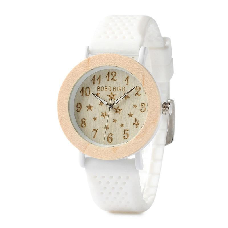 White Wooden Ladies Watch