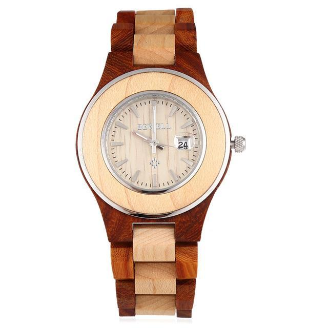 Women Wooden Watch from BEWELL