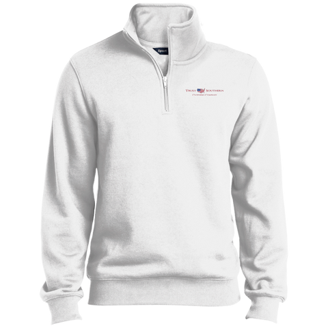 White Truly Southern 1/4 Zip Sweatshirt