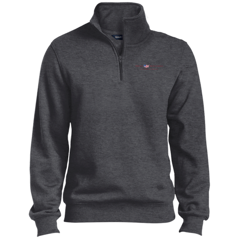 Graphite Heather Truly Southern 1/4 Zip Sweatshirt