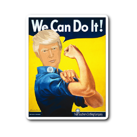 We Can Do It Trump Sticker