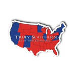Red and Blue States Sticker