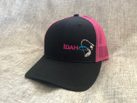 Idaho Ice SnapBack in Black/Neon Pink