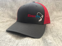 Idaho Ice SnapBack in Charcoal/Red