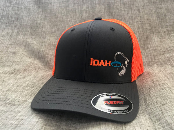 Idaho Ice Flexfit Charcoal/Orange
