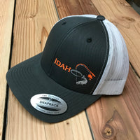 Idaho Ice SnapBack in Charcoal/White
