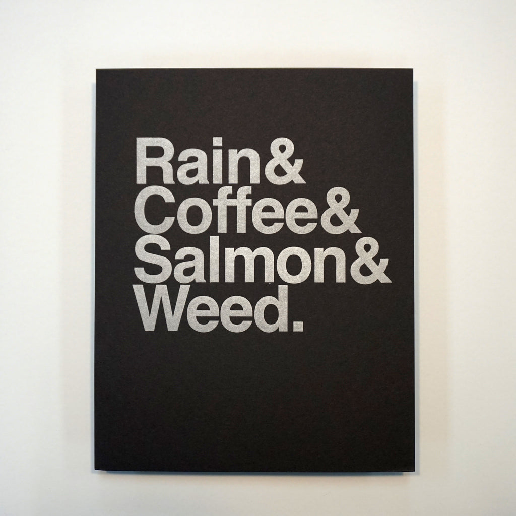 Rain & Coffee & Salmon & Weed Print