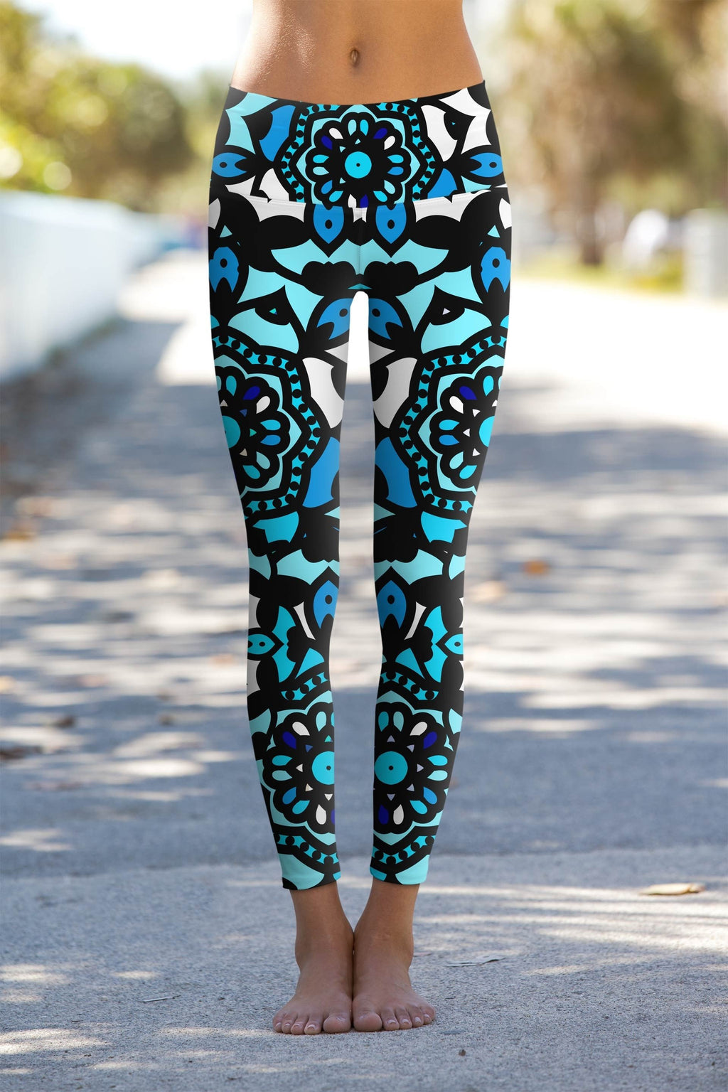 Kaleidoscope Lucy Blue Geometric Print Performance Spocket App