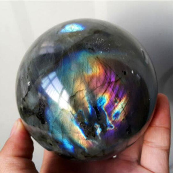 120G Natural Labradorite Crystal Sphere Ball Madagascar