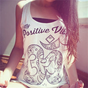 Stylish Buddha Printed Sun-top for Women Summer Casual Vest Tank Tops Slim T-shirts Blouse