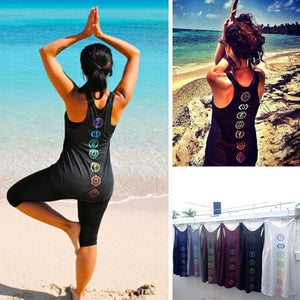 6 Colors Women Sleeveless Tank Top Beach Wear Casual O-Neck Cotton Printed Tops