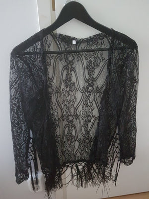 Women's Lace Long Sleeve Kimono Cardigan Beach Cover Up Cape Tops Blouses