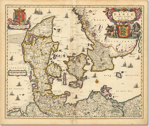 "Large Tapestry - 1690 Map of Scandinavia and the Baltic Region  - 88""x104"""