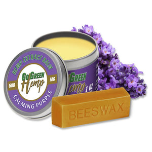 GoGreen Hemp CBD Balm Salve Calming Purple Terpene Blend