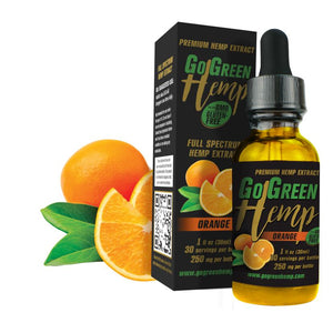 GoGreen Hemp CBD Premium Orange Oil Drops