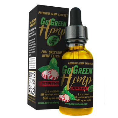 GoGreen Hemp CBD Premium Peppermint Oil Drops