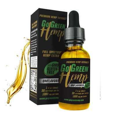 GoGreen Hemp CBD Premium Unflavored Oil Drops