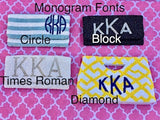 Solid Beaded Monogram Tote