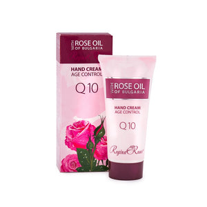 Age control hand cream, paraben free,  without synthetic color, without petroleum-based products, pure Bulgarian rose oil, olive oil, Q10