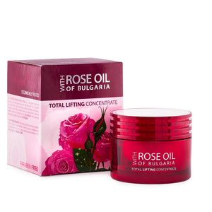 Face cream, paraben free,  without synthetic color, without petroleum-based products, pure Bulgarian rose oil