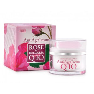 anti-age face cream, paraben free,  without synthetic color, without petroleum-based products, pure Bulgarian rose oil