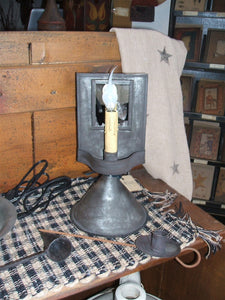 Small Primitive Lamp w/Mirror