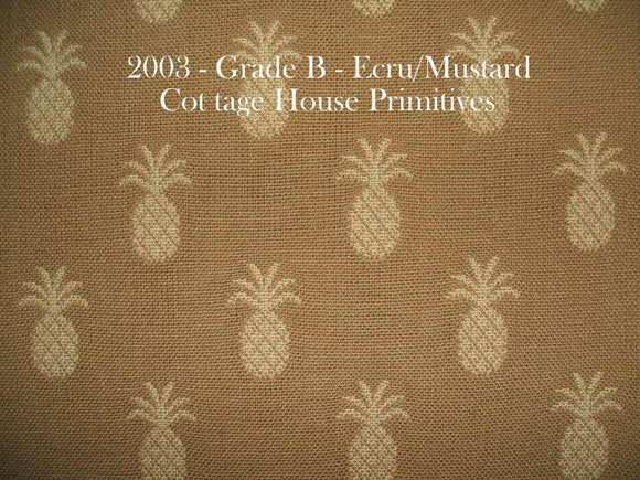 Pineapple - Mustard/Ecru
