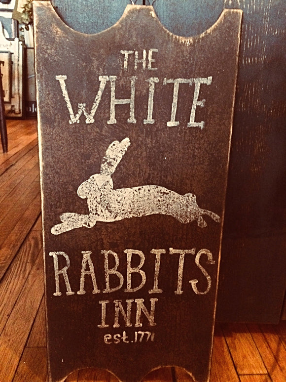 White Rabbits Inn Sign