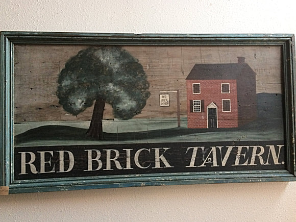 Red Brick Tavern Sign