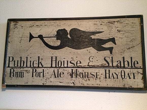 Publick House & Stable Sign