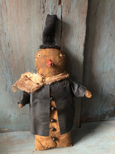 Primitive Gingerbread Snowman