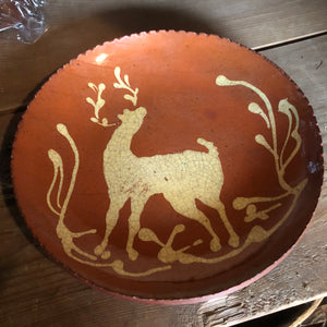 Redware Stag Plate