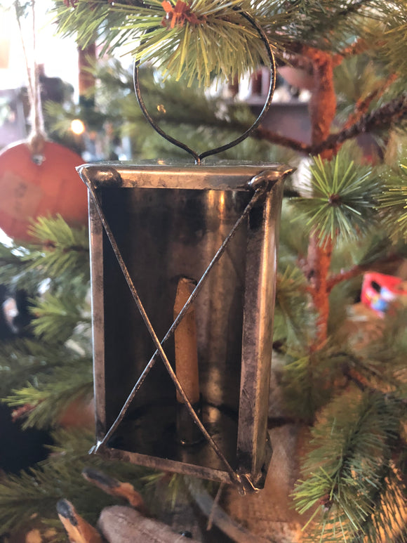 Tiny Tin Lantern Ornament