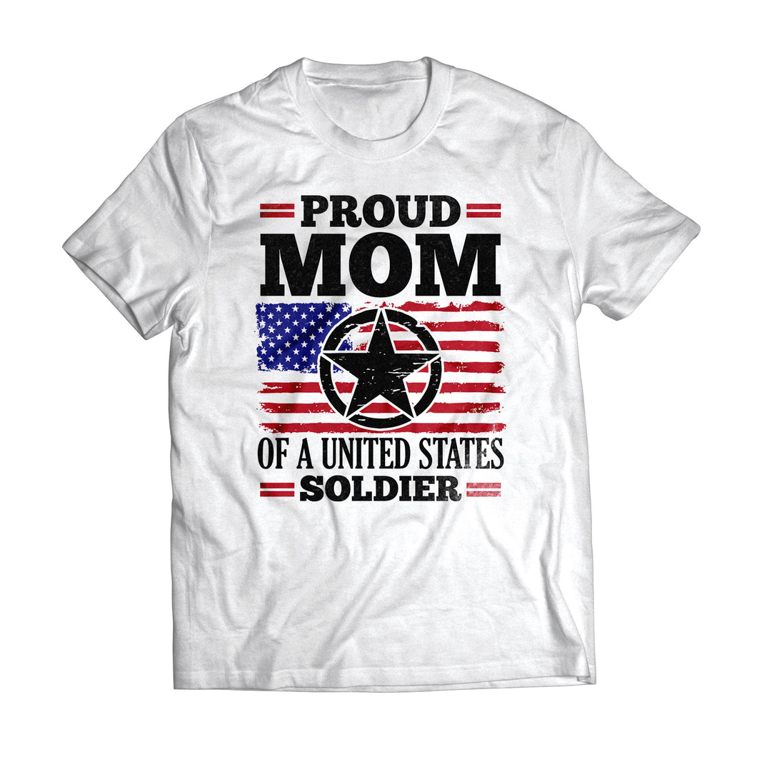 Proud Mom US Soldier Light