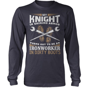 Ironworker In Dirty Boots