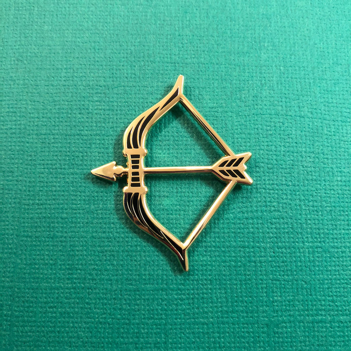 Hunter's Bow Enamel Pin