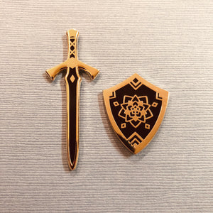 Sword and Shield Enamel Pins