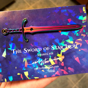 The Sword of Star Iron Enamel Pin