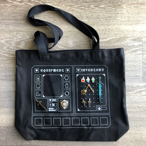 Inventory Tote Bag (black canvas)