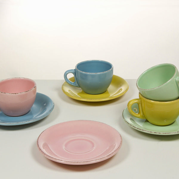 Set of Mugs with Saucers China crockery (6 pcs) - Kitchen's Deco Collection