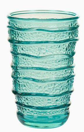 Recycled Glass Vase Turquoise (8 x 8 x 13 cm)