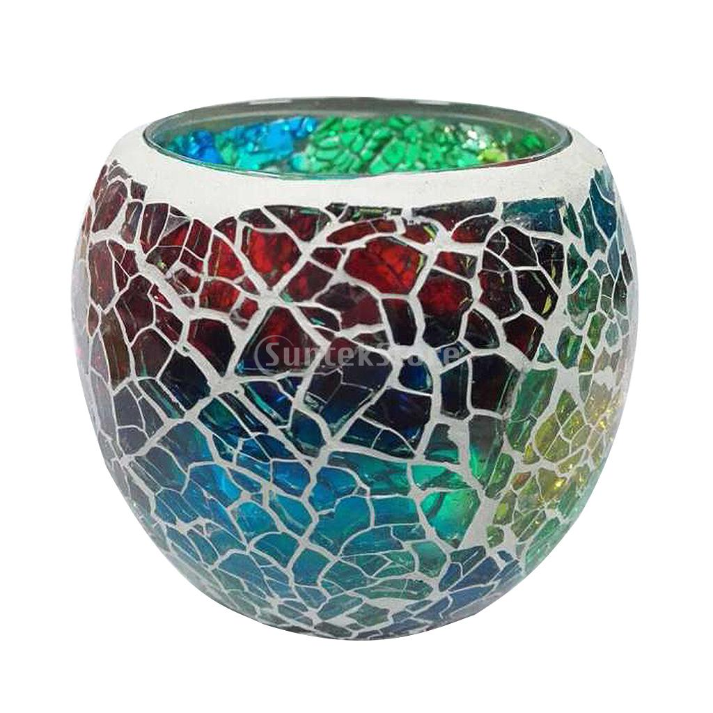 Mosaic Glass Tealight Candle Holder