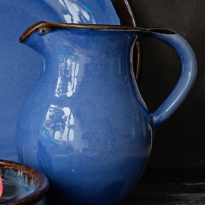 Tall Jug - Rustic Blue