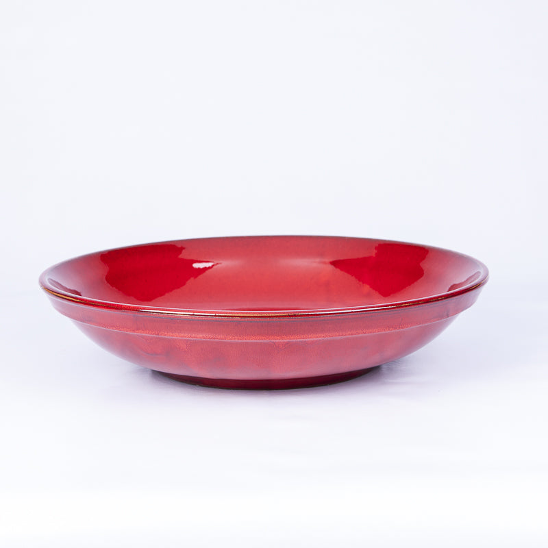 Large Fruit/Serving Bowl 38cm - Red Terracotta