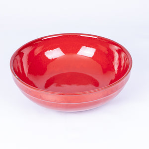 Large Thick Edged Fruit/Serving Bowl 29cm - Red Terracotta