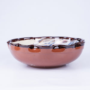 Large Wavy Thick Edged Fruit/Serving Bowl 29cm - Waters in White