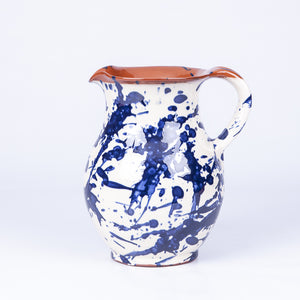 Tall Jug - Blue Splatter