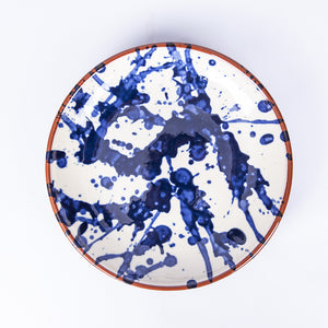 Main Plate 24cm - Blue Splatter