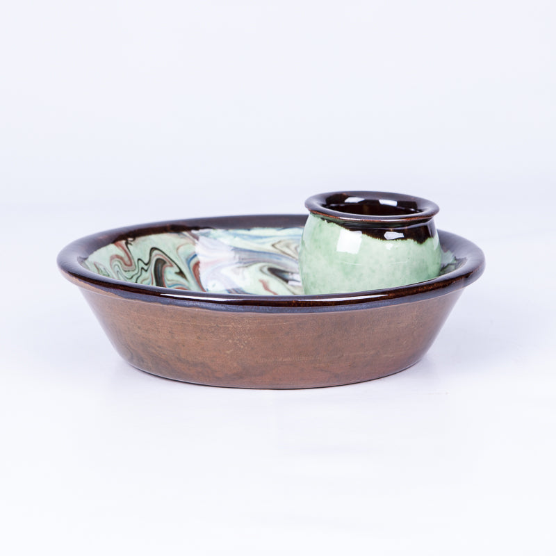 Olive Dish - Waters in Green