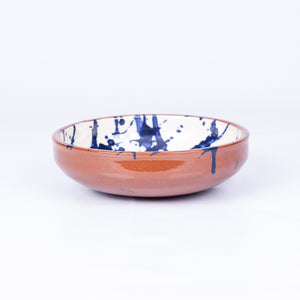 Small Salad/Tapas/Pasta Bowl 17cm - Blue Splatter